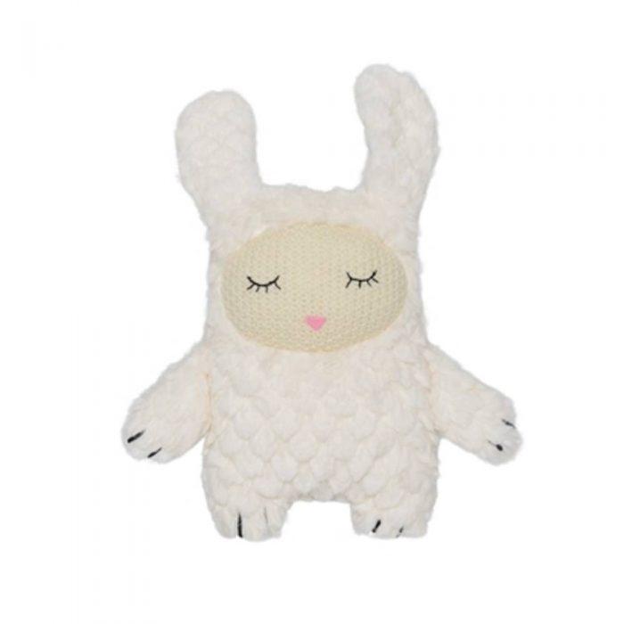 Peluche blanche toute douce en forme de lapin de la marque Bloomingville