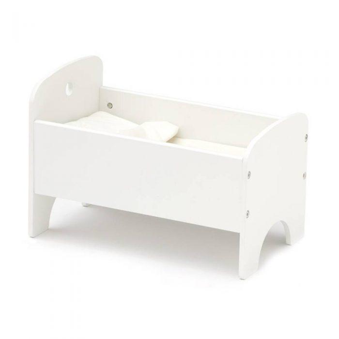 Lit de poupée en bois blanc de la marque Kid's Concept