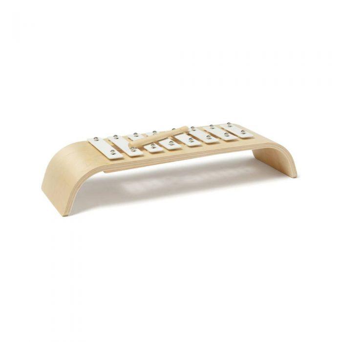Xylophone en bois et blanc de la marque Kid's Concept