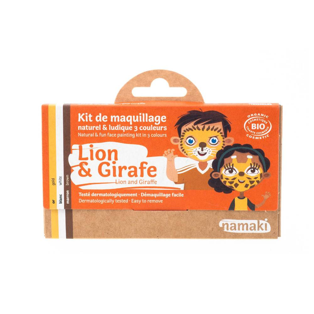 Kit maquillage Enfant 3 couleurs ours et girafe Namaki BIO
