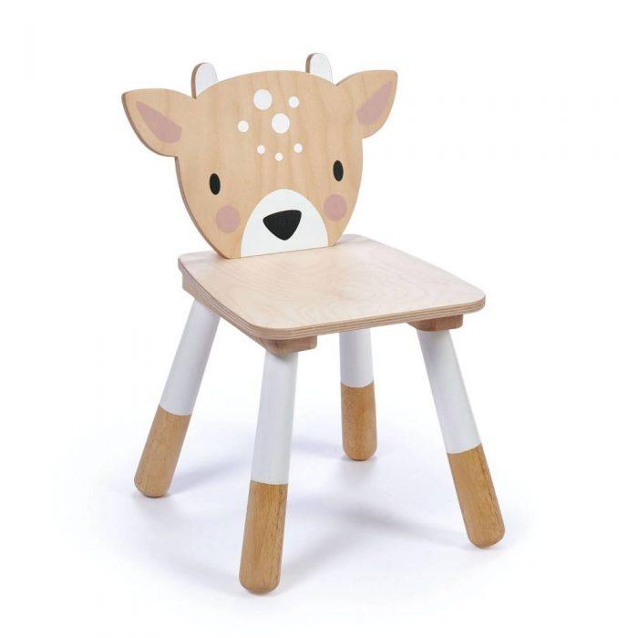 Chaise enfant en bois en forme de biche de la marque Tender Leaf Toys