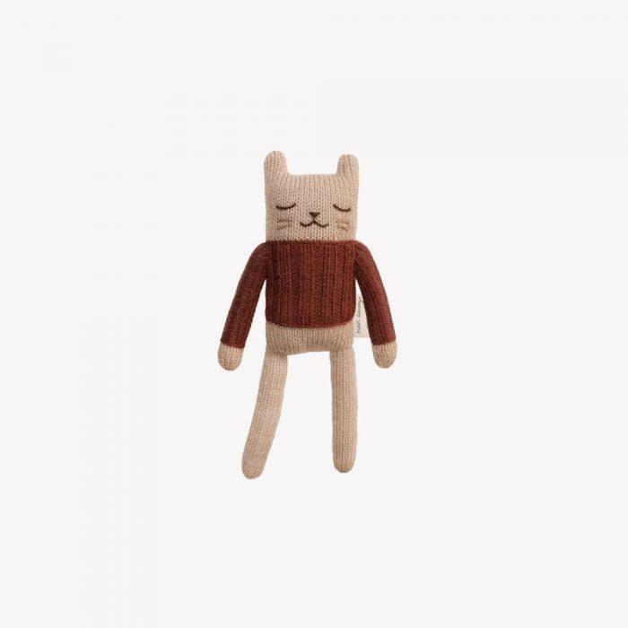Doudou chat en laine d'alpaga Main Sauvage