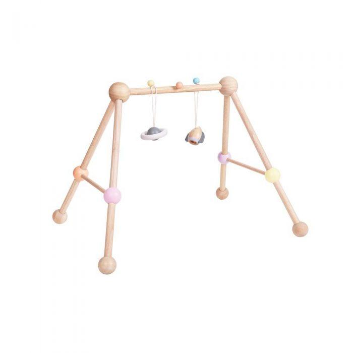 Arche d'éveil en bois couleur Pastel de la marque Plan Toys