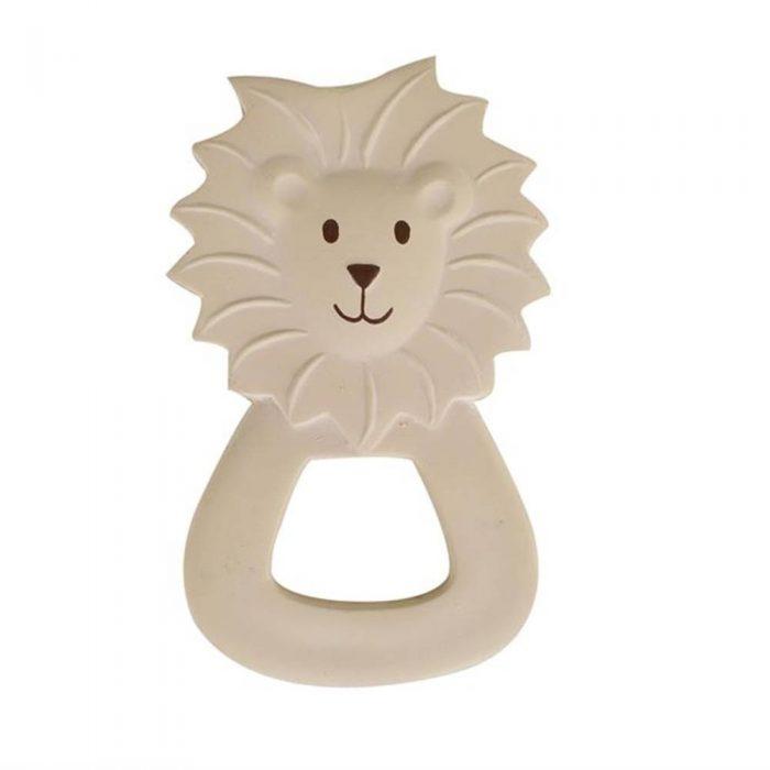 Anneau de dentition en caoutchouc naturel en forme de lion de la marque Tikiri