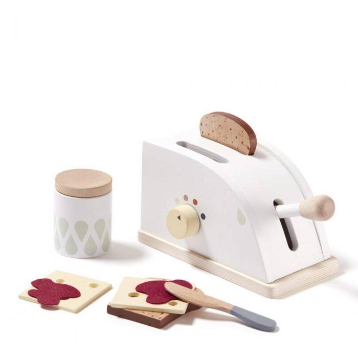 Grille pain en bois accompagné de ses accessoires de la marque Kid's concept